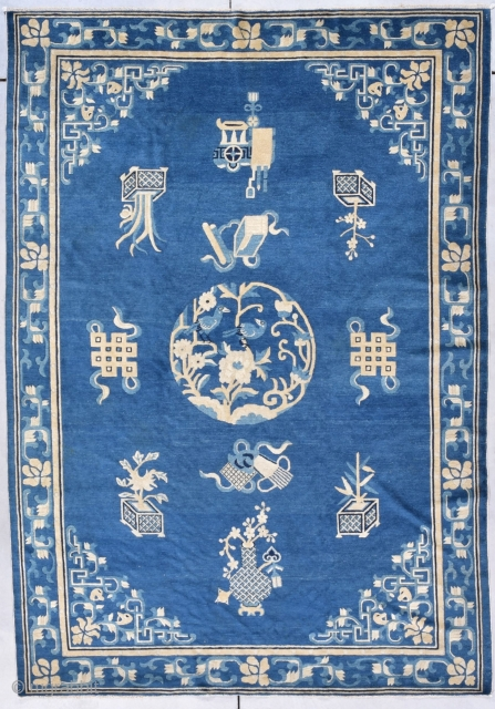 """Antique Peking Chinese Rug 6'0"""" X 8'6"""" #7874 This Peking Chinese Rug measures 6'0"""" X 8'6"""" (183 x 262 cm). It is a very interesting and very early Chinese carpet. It has a  ..."""