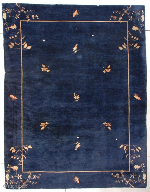 #7610 Antique Peking Chinese Rug 