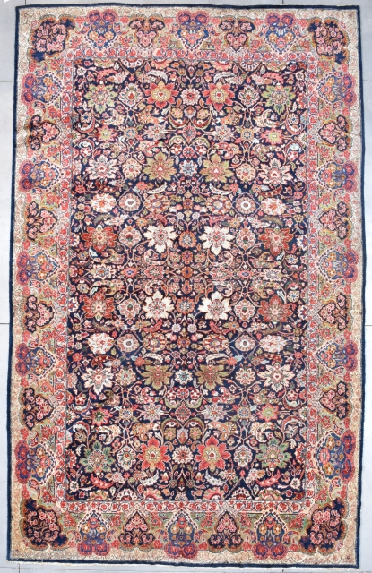 "Mahal Persian Oriental Carpet 10'9"" X 17'4"" #7832 Price on Request   Age: 1st half 20th century  https://antiqueorientalrugs.com/product/mahal-persian-oriental-carpet-109-x-174-7832/"