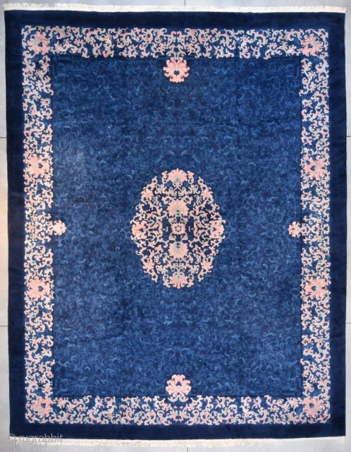 """#7679 Antique Fetti Art Deco Chinese 14'8"""" X 18'5"""" Size: 14'8″ X 18'5″ (451 X 564 cm) PALACE SIZED!! Age: Circa 1930 Price on request https://antiqueorientalrugs.com/product/7679-fetti-art-deco-chinese/   And A Matching Runner!  #7682 Fetti Art Deco Chinese Rug 1'6″ X  ..."""