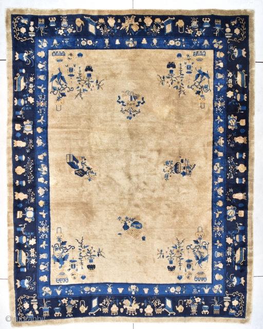#7726 Antique Peking Chinese Rug 