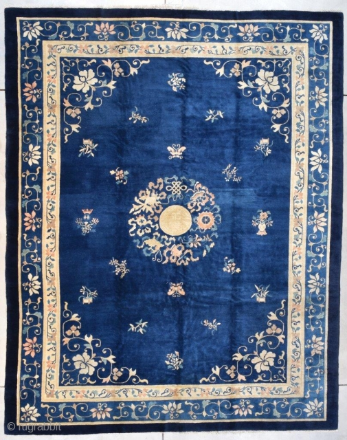 #7721 Antique Peking Chinese Rug 9'3″ X 11'8″
