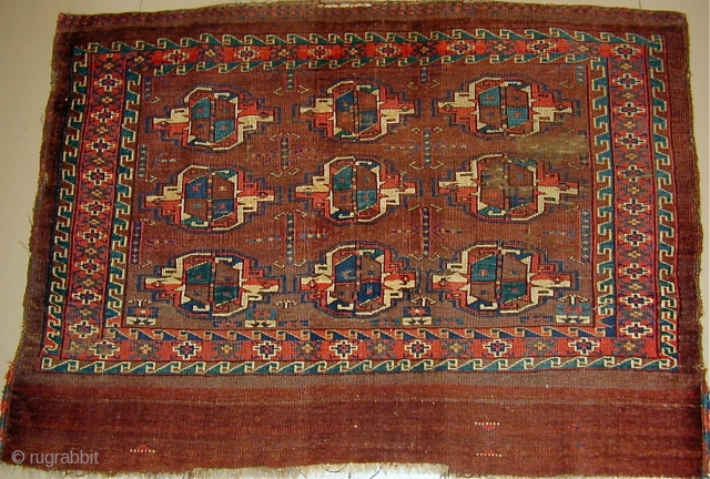 Yomud Chuval showing two completely different minor guls, early 19th.Cent.,2'8'' x 3'7''.