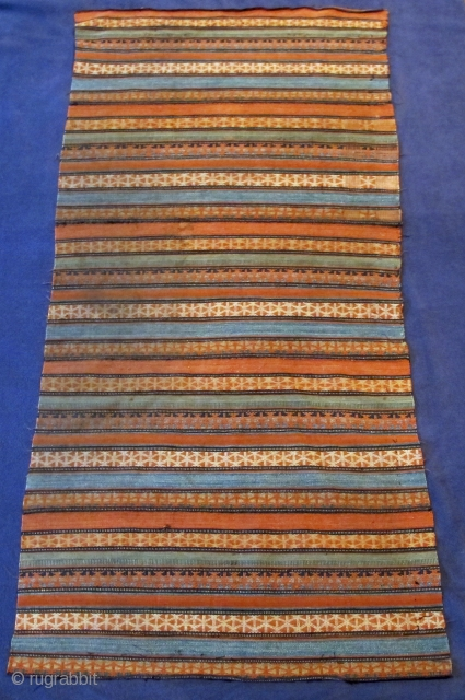Pure silk kelim fron Shah-Savan, early 19th. century,