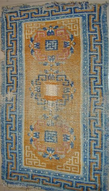 Tibetan rug, 19th.century, 3'10'' X 2'3''