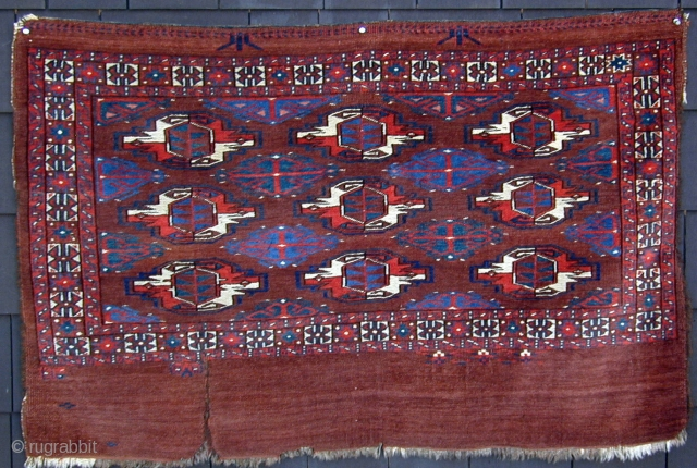 Unusual and rare Yomud Chuval, early 19th. century, 47'' X 31'' (150 X 31cm)