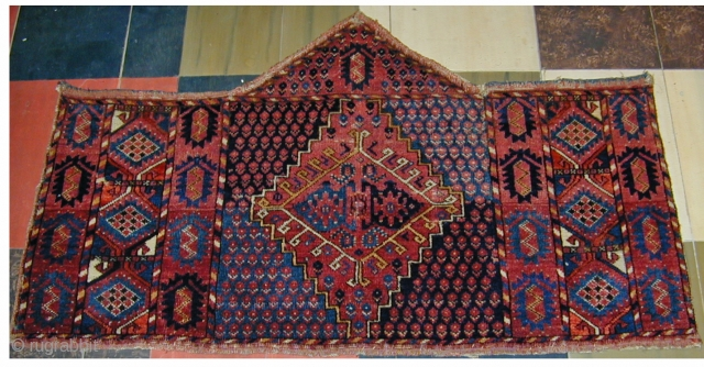 "Early 19th century heptagonal Ersari Asmalyk in excellent condition, 50"" X 30"" [127 X 76 cm]"