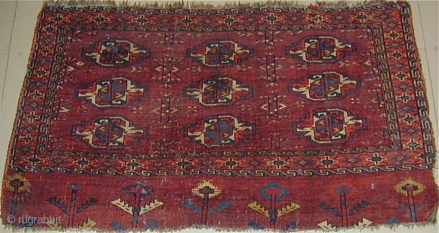Very colorful  Yomud Chuval, early 19th. century, needs to be washed,50'' X 26''(127 X 66cm)