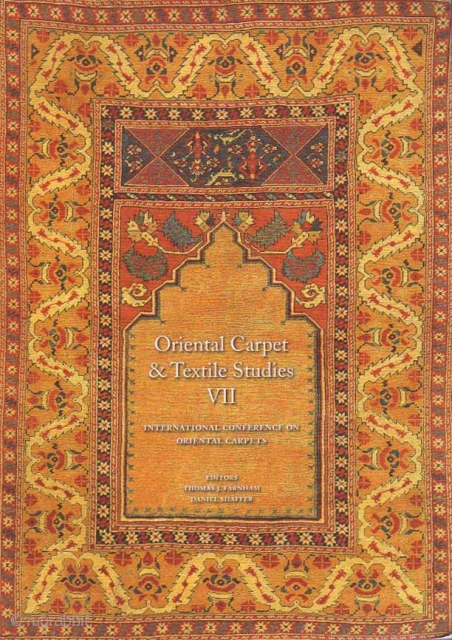 Oriental Carpet and Textile Studies VII: Selected Papers from ICOC X, Washington 2003 and ICOC XI, Istanbul 2007  http://www.rugbooks.com/catalog/product_view/?product_id=24374