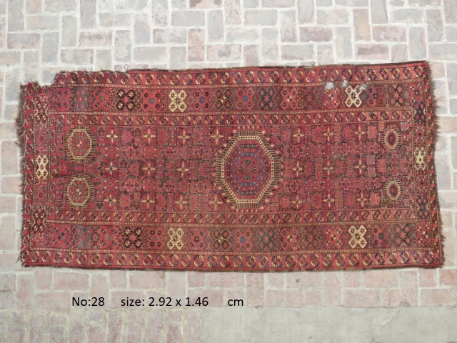 E19thC Ersari main carpet
