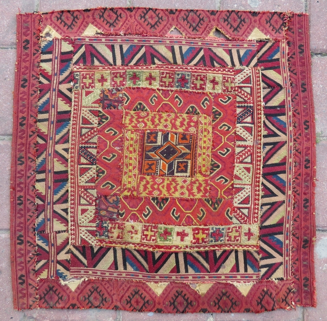 Antique greek islands embroidery technic Textile very nice colors and very old Circa 1880-1890