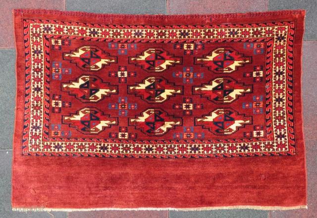 Antique Turkoman camel sack three GUL wonderful colors and nice condition all original size 1,15x78 cm Circa 1880-1890