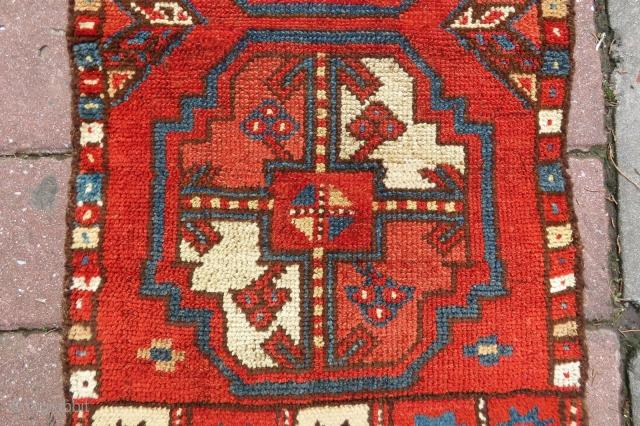 Antique Kyrgyz pillow elephant pillar rose wonderful colors and excellent condition all original wild  size 82x46 cm circa 1880