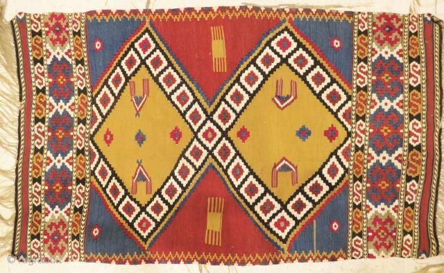 Antique Manastir Kilim wonderful colors and excellent condition all original size 1.10x70 cm circa 1890-1900