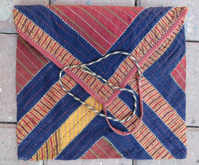 Turkoman Book cover very nice textile with hand made silk Circa 1910-1920