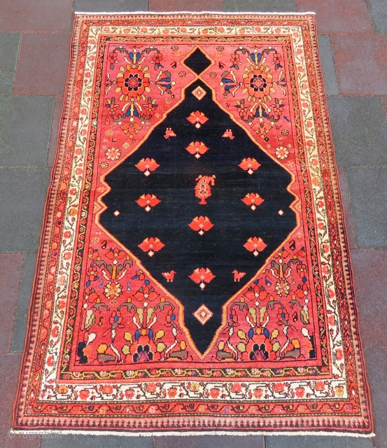 Antique Ferhan Malayer rug wonderful colors and excellent condition all original size 2,03x1,30 cm Circa 1900-1910