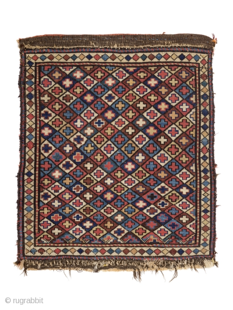 Shahsavan reverse soumakh bagface, Late 19th Century, Size: 56 x 48 cm. (22 x 19 inch)