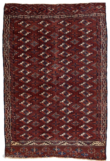 Fine Karadashli carpet fragment 255 x 170 cm.  very interesting and early fragment that shows a considerable amount  of wear on the back. Ex Pinner collection.