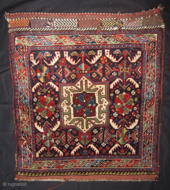 Gashgay bag front. Circa 1900, 67 x 75 cm. Very good condition, no repair. More info or photos if you ask. From a friend of mine, a private collector.