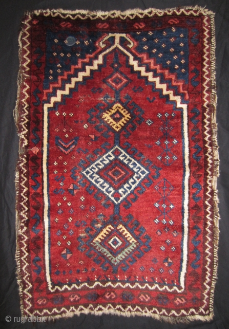 East Anatolian Shavak prayer rug circa 1900 78 x 118 cm, mounted on cotton fabric. More info or photo if you ask.