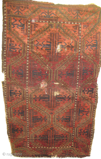 Fine Baluch rug needs repair on few area's size 6 x 4 ft.