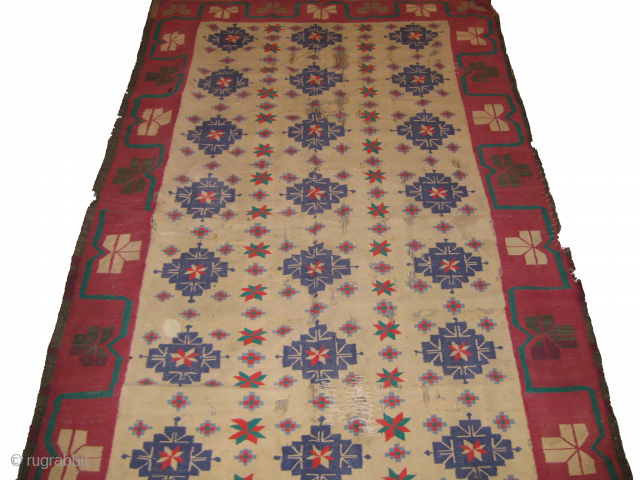 20th century Indian Agra Dhurrie, some size 6 x 4ft  it needs to be repair on some area's.