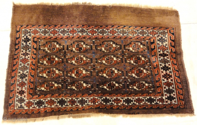 """Antique Yomud Chuval Bagface from Turkestan 2'2""""x 3'6"""""""