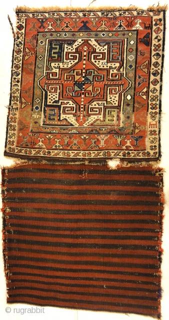 """Rare Antique Shahsavan Bag Face 1'7"""" x 1'8"""""""