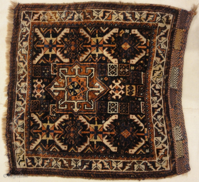 "Antique Khamseh Original Southwest Persian Rug 2'5"" x 2'5"""