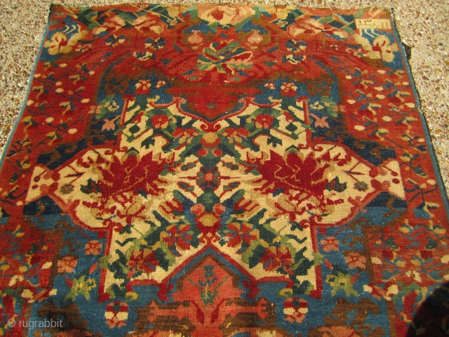 19th C. Seichour, completely original condition. Great weave and feel to the rug. Its dated 1300 or 1883. It could use some minor work. The size is 3'3'' x 5'5'' or 100  ...