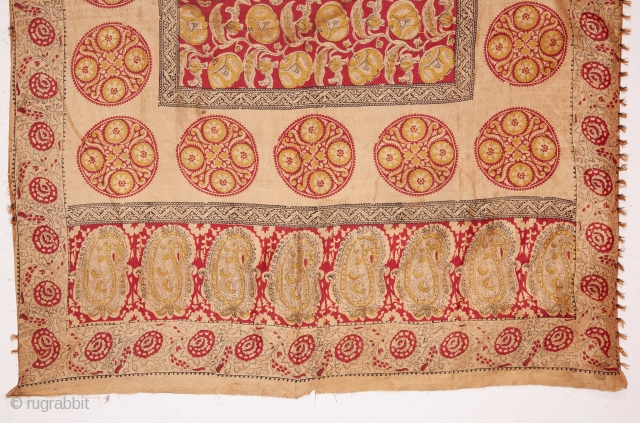 Silk Block Printed Panel ( Indian ? persian?)