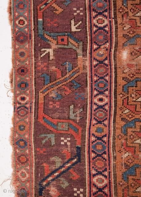 Persian Rug Fragment as found 107 x 217 cm / 3'6'' x 7'1''