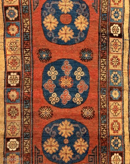 Khotan rug,   #karlsruhe #suedliche_waldstrasse #antiquerugs #antiquekilim #islamicart #interiordesign #decoratifart #decoration #luxury #macallan #breguet #boucheron #riva #ferragamo #lovely #rich #caucusus #halimagazine #turkish #persian #uniqueart #handcrafted #tribal #suzani #uniqueart #rare #tappetiantichi #sartorino