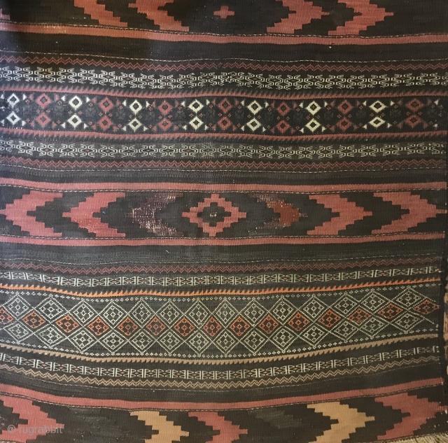 Baluchistan small Kilim. Unusual tonality .  Nice weave . Good price.full photo available.