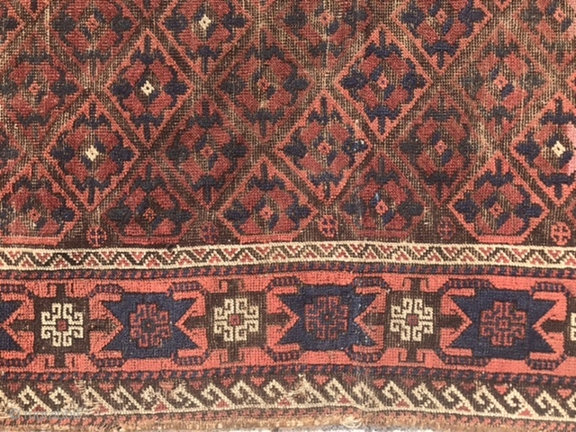 Baluch rug fragment ( where is bob Kent when you need 'I'm)