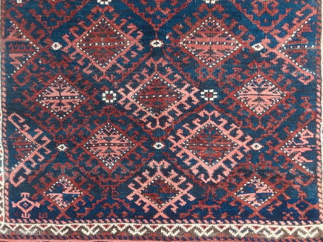 Baluch with Jazzy Latch hook motifs.   Just ask for more pics if interested.