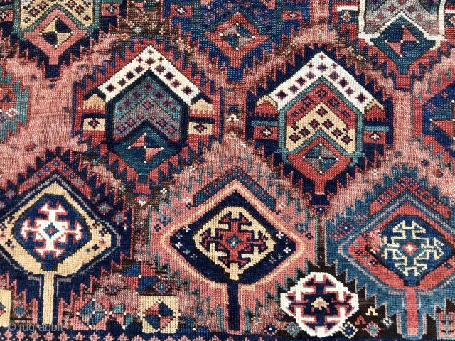 Old Sauj Bulak Type Kurd rug.