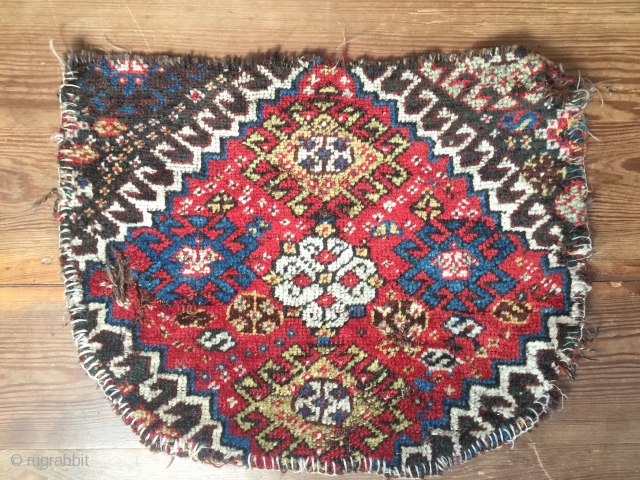 Antique Khamseh,Luri Persian tribal up-cycled saddle cover 