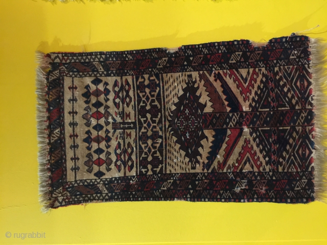 Rare mid 19th century tent band Fragment probably chodor Turkmen   Size 123 x 78 cm circa