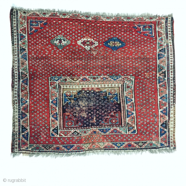 Antique Anatolian saddle cover rug 1850  - 1870 second half 19th Century properly  Sivrihisar region province Eskişehir  