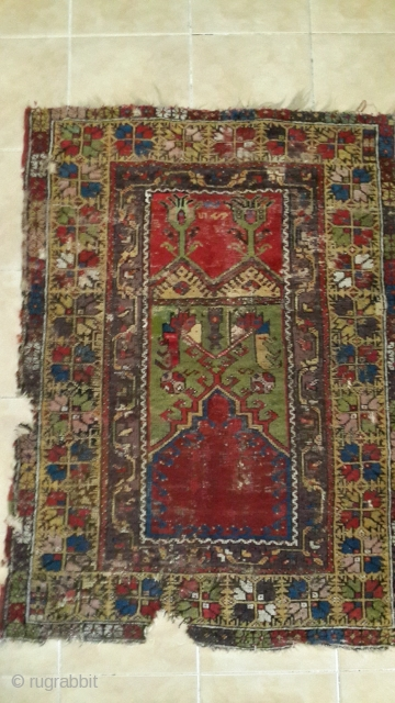 Gorgeous piece is from city Konya - Ladik province. Wool on wool foundation.