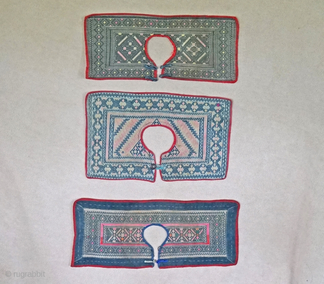 Rare Chinese Ethnic Minority Children's collars Late Qing 