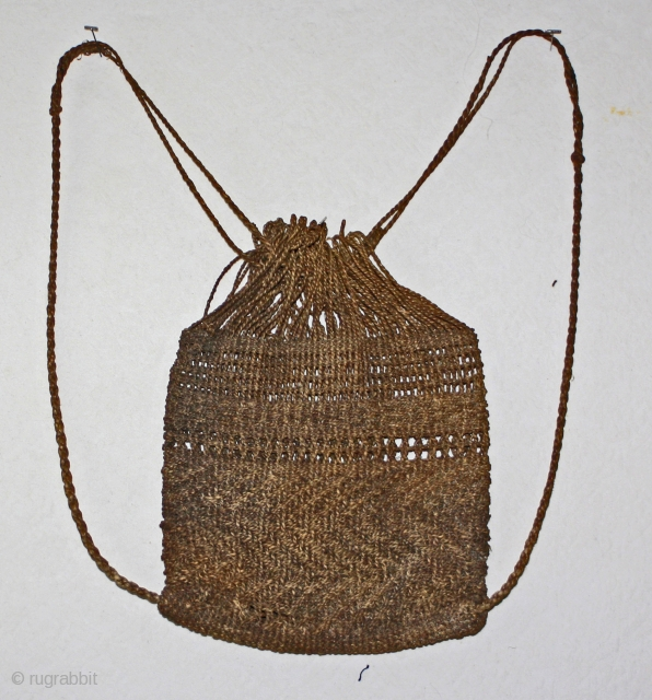 Antique Japanese fisherman's knapsack, backpack...          