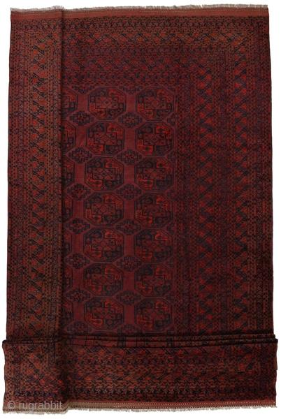 Mid 20th century Afghan Ersari Carpet   More info: info@carpetu2.com
