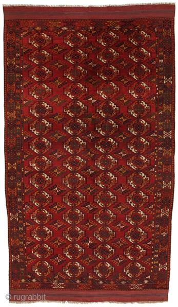 Turkaman Kizyl Ayak Carpet  About 140 years old  https://www.carpetu2.com/