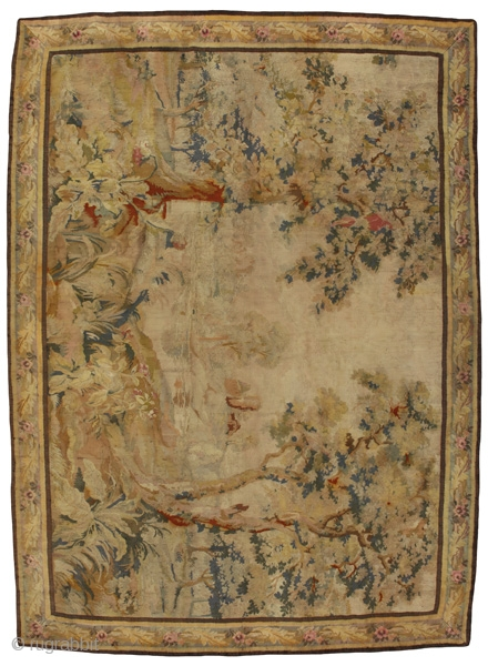 Antique Tapestry French Textile. More information https://www.carpetu2.com