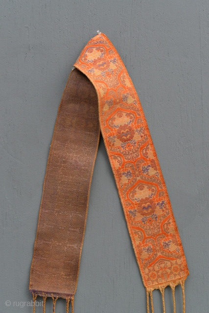XIXth Century Moroccan Arab, Berber or Sephardi Wedding Sash in excellent condition with intact tassels.