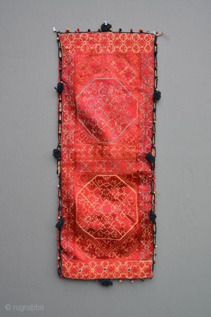 Pair of antique Phulkari pillow cases.