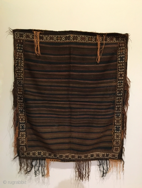 Taimani Baluch Sofreh Kilim.  Circa Antique.  One of a kind.  4 colors.  Mint condition.  Soft, beautiful handle.  46 x 39.  Clean and hand washed.