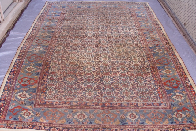 Antique Persian Bijar, circa 1850-1880's, size 9' x 13'3""